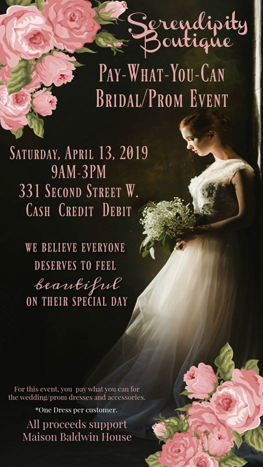 Pay What You Can Bridal Event