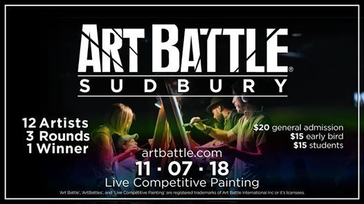 Art Battle Sudbury - November 7 2018