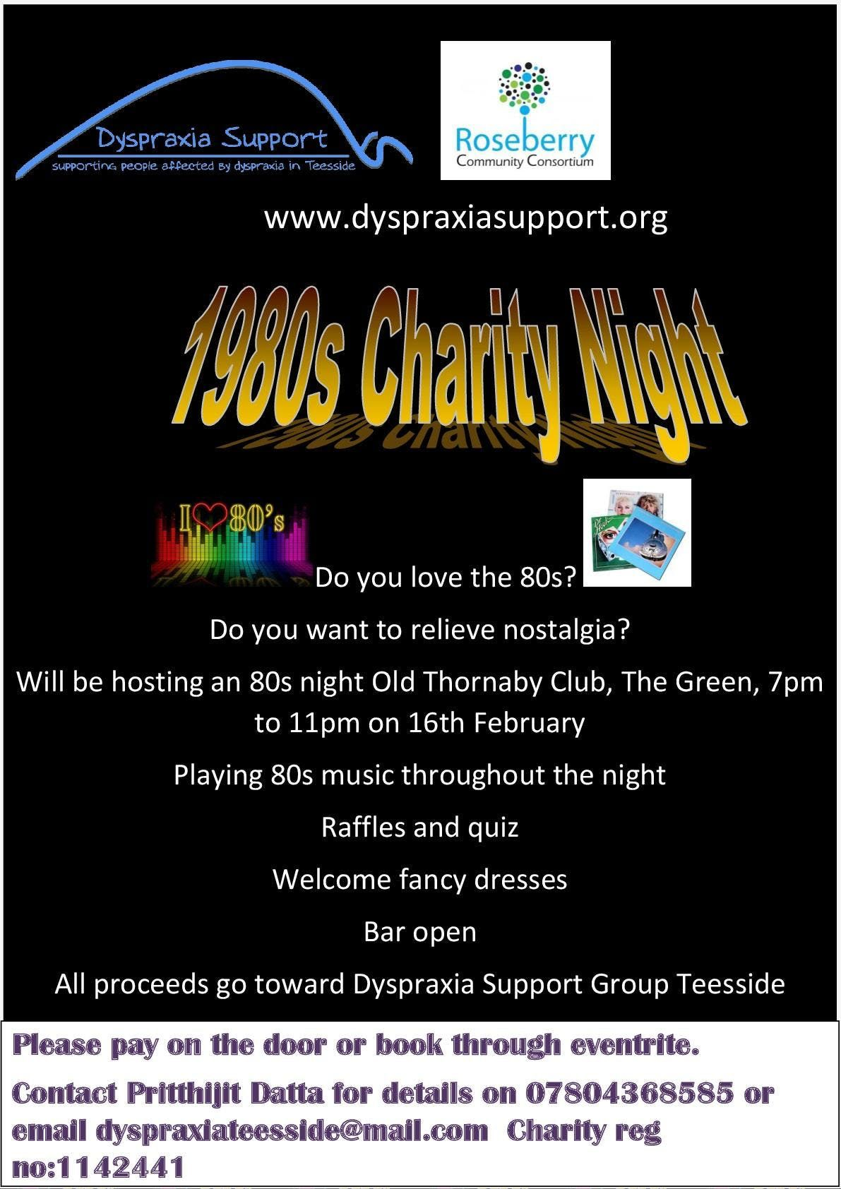 80s Charity Night at Old Thornaby Social Club, Stockton-on-Tees