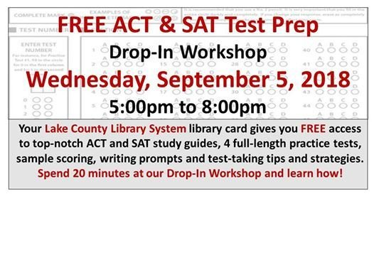 ACT SAT Test Prep Drop In Workshop