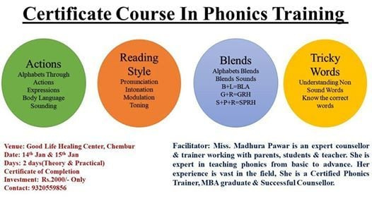 Certificate Course In Phonics Training