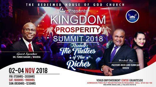 Kingdom Prosperity Summit 2018