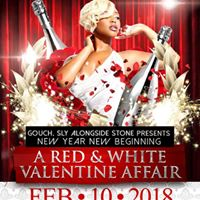 Gouch alongside sly stone a red &amp white valentine affair