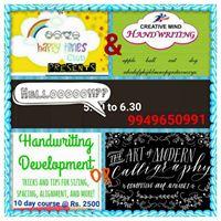 Calligraphy &amp Handwriting Workshop
