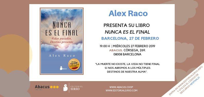 Presentacin libro de Alex Raco en Abacus Barcelona