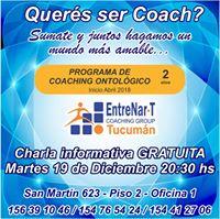 Tucuman Charla Informativa Coaching Ontolgico Gratuita