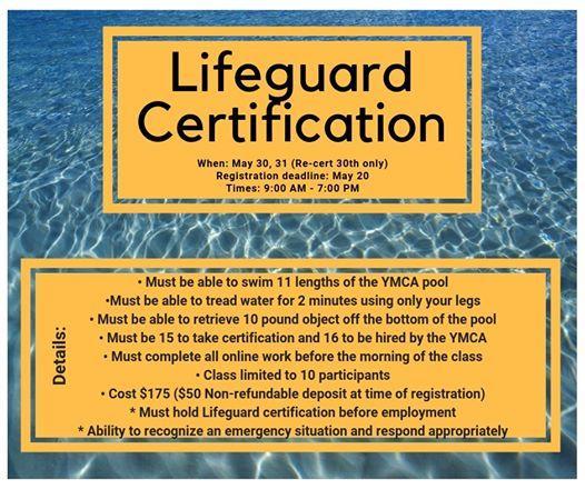 Lifeguard Certification Class At Plainview YMCA, Plainview