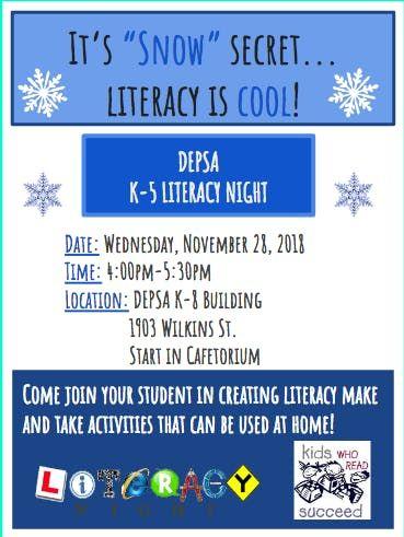 Depsas K 5 Literacy Parent Night At Detroit Edison Public School