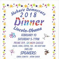 Mohave County Democrats 2018 Dinner &quotLincoln-Obama&quot