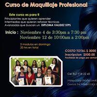 Curso Maquillaje Pro Noviembre 4 y 12