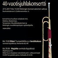Trumpettikillan 40-vuotisjuhlakonsertti