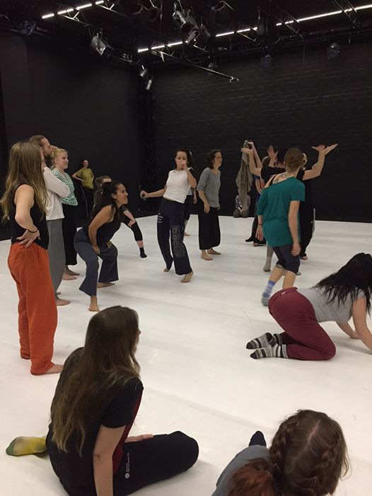 Blanding workshop with Barcelona International Dance Exchange