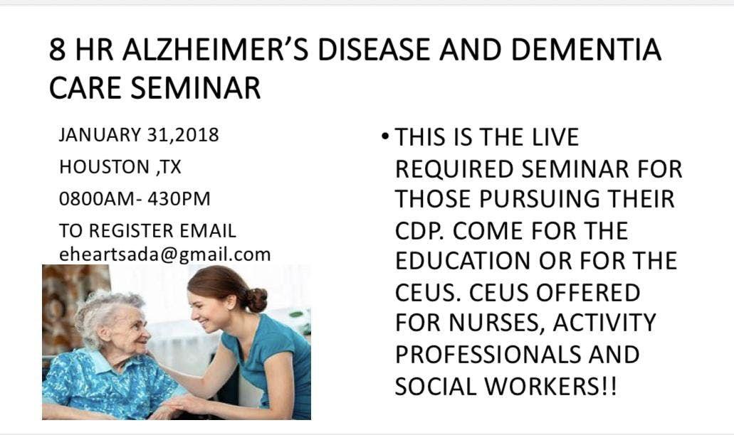Alzheimers Disease and Dementia Care Seminar