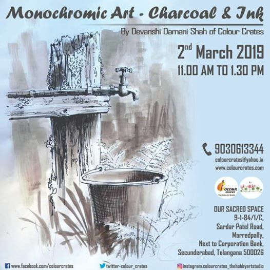 Monochromic Art -Charcoal and Ink Workshop.