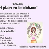 Taller &quotEl placer en lo cotidiano&quot