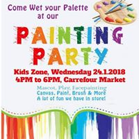 Painting Party In Carrefour Market DIP