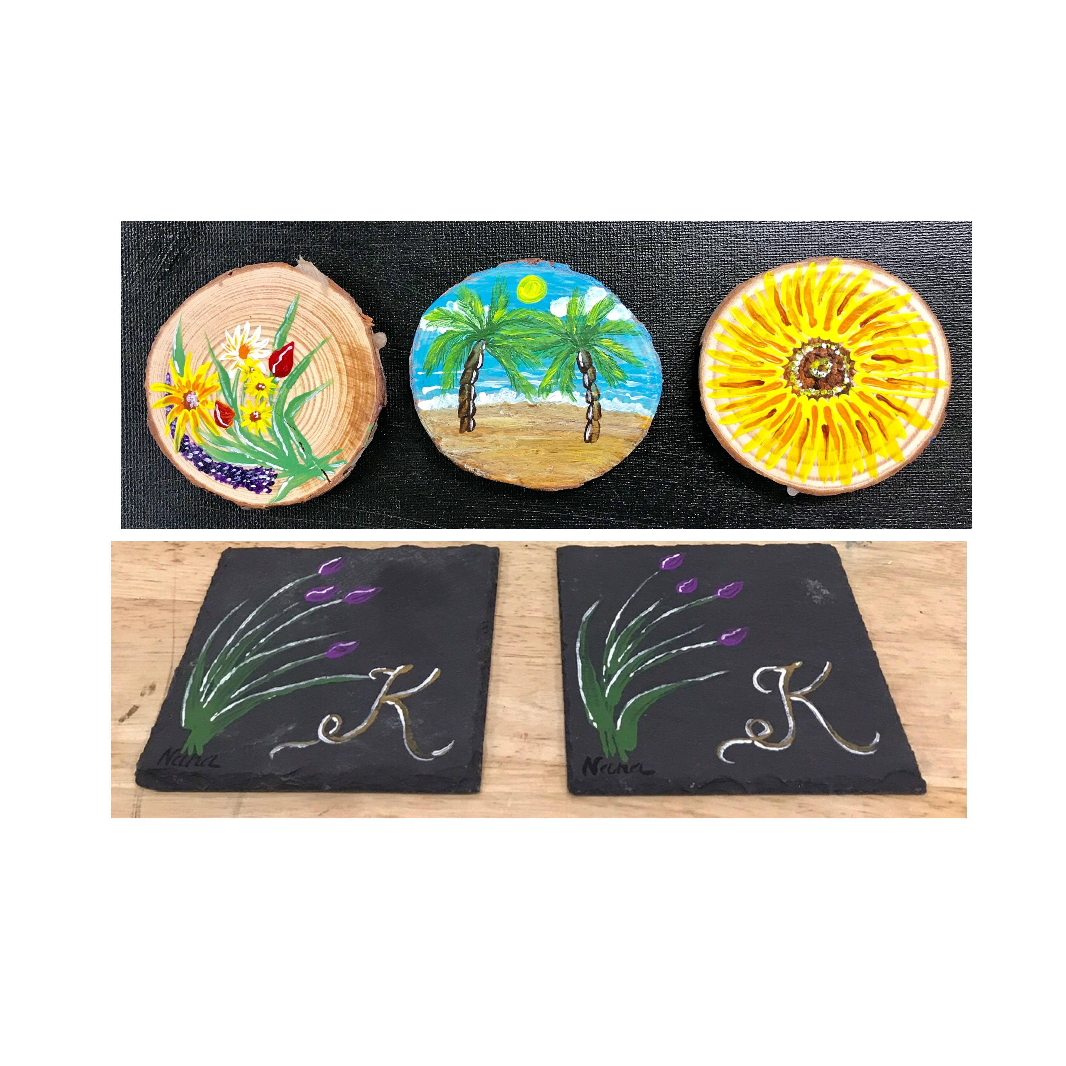 Adult Open Paint Yrs Create Your Own Coasters Slate Or Wood - Create coasters from photos