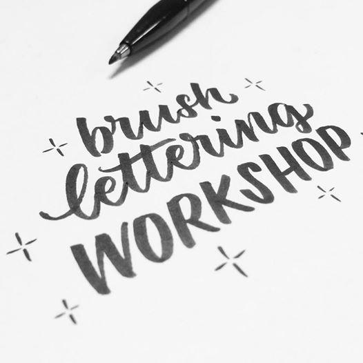 Workshop brushlettering met Stormscreative