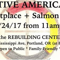 Native American Marketplace and Salmon Bake on Mississippi Ave