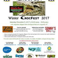 Winter crocfest 2017 at st augustine alligator farm for St augustine arts and crafts festival 2017