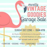 Vintage Goodies Garage Sale