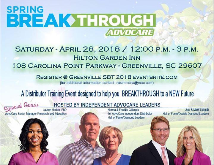 Spring Breakthrough   Greenville, SC