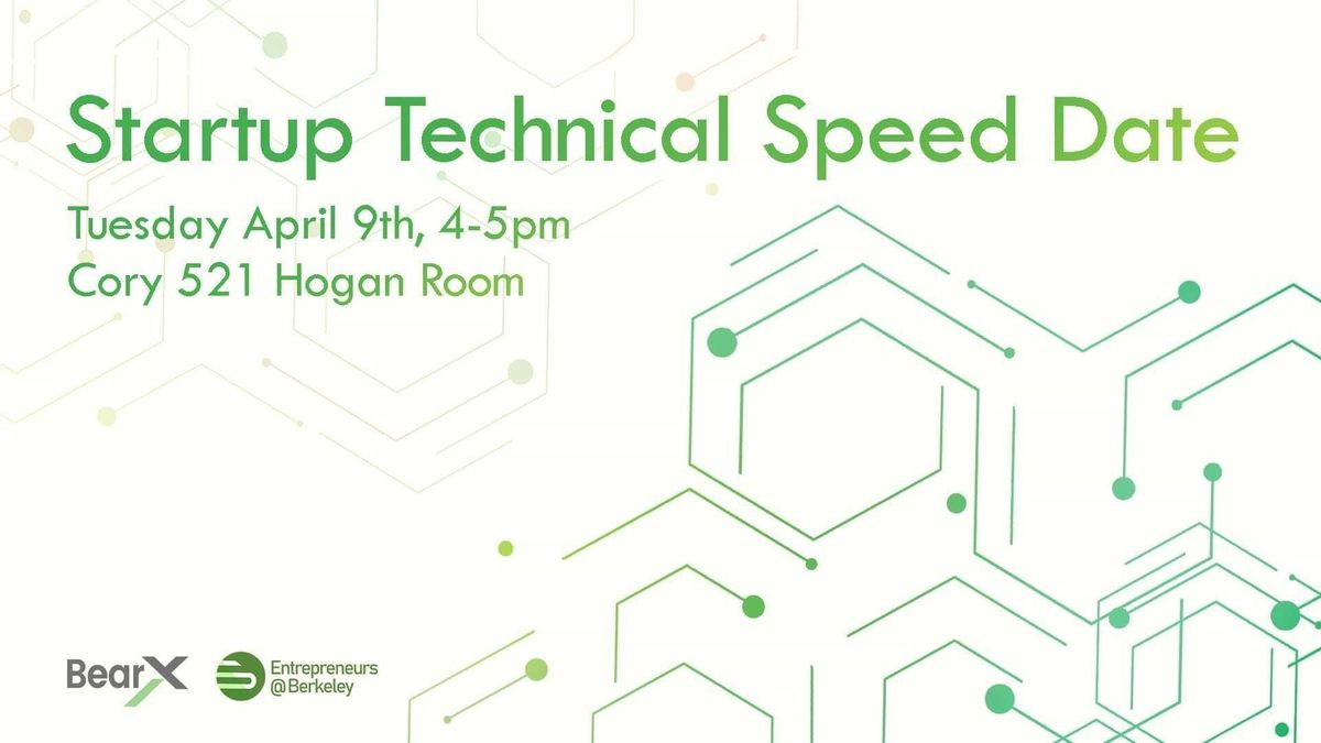 Startup Technical Speed Date