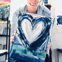 Wine Your Art Out Heart with Anna