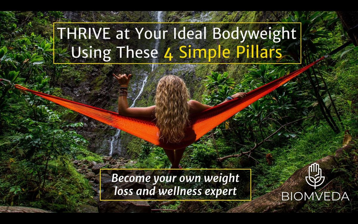 Harness Your Hormones Reset your bodys thermostat and THRIVE at your ideal body weight (FREE EVENT)