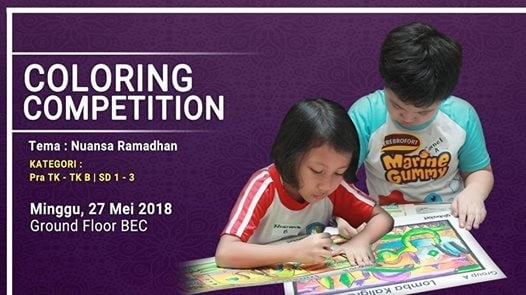 Lomba Mewarnai Tema Ramadhan At Bintaro Entertainment Center