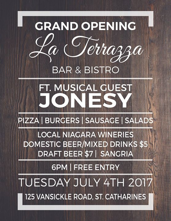 La Terrazza Grand Opening Event At Club Roma Saint Catharines