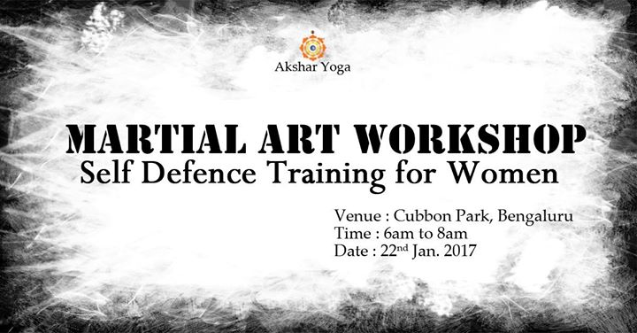 Martial Art workshop Self Defence Training for Women