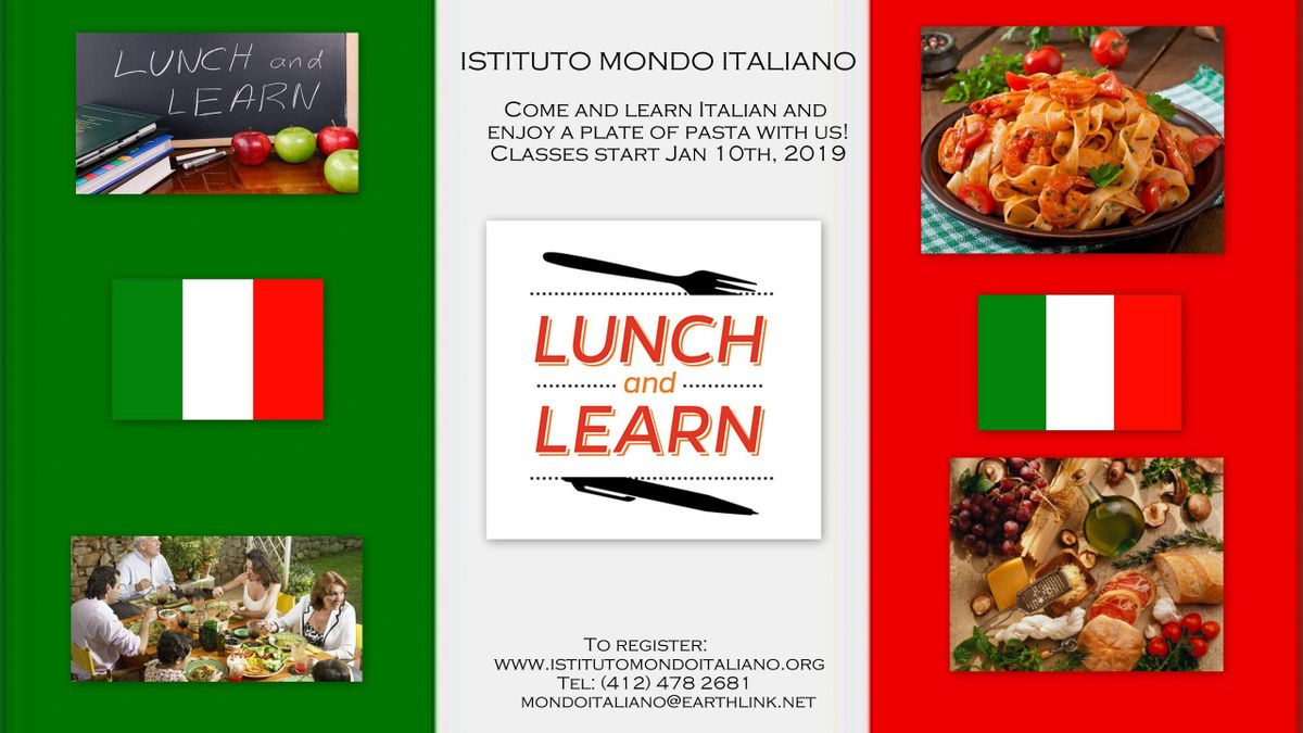 Italian Lunch & Learn (language & cooking class)