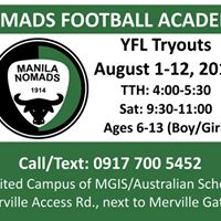 Nomads FC Youth Football League Tryouts