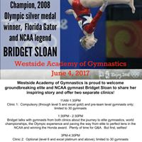 Bridget Sloan is coming to the Westside Academy of Gymnastics