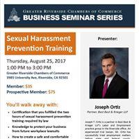 Sexual Harassment Prevention Training Seminar