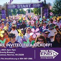 Richmond Walk to endalz Kickoff Party