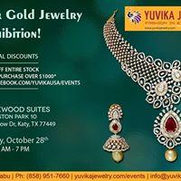 Houston TX - Yuvika Diamond &amp Gold Jewelry Exhibition