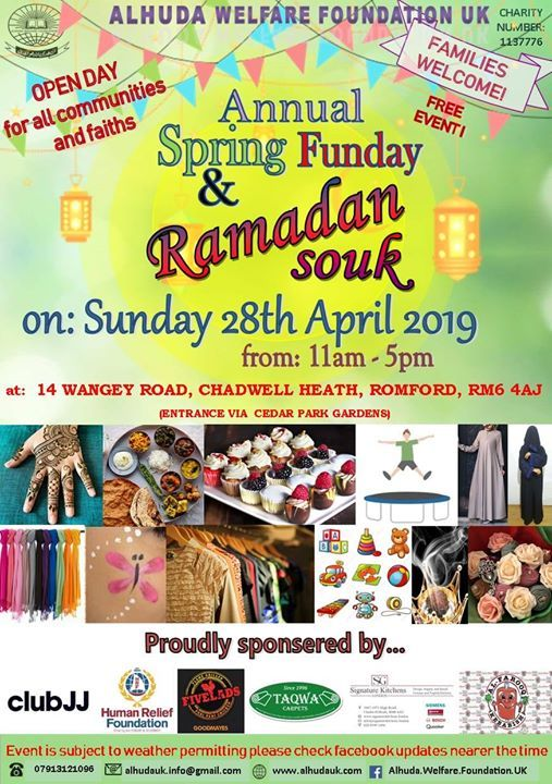 Spring Open Family Funday at Alhuda Welfare Foundation UK