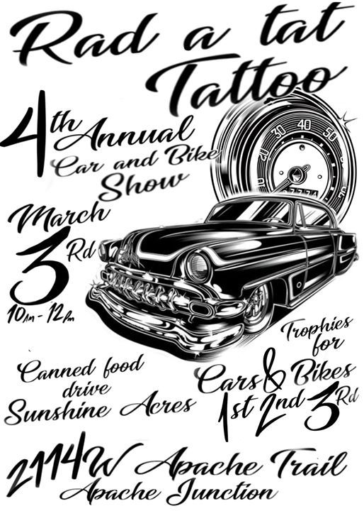 RadATat Tattoos 4th Car/Bike Show for Sunshine Acres | Apache Junction