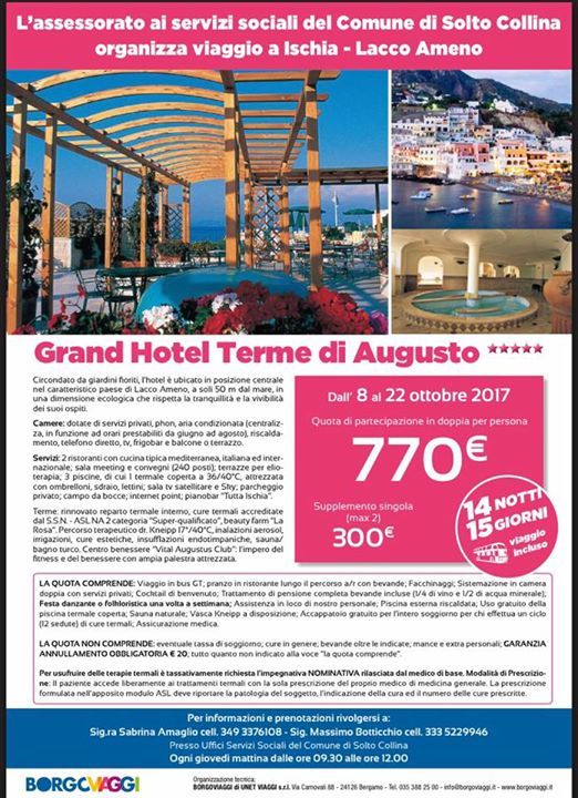 Soggiorno a Ischia 08 al 22 ottobre 2017 soggiorno termale at ...