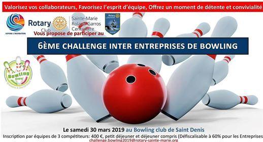 6me challenge inter entreprises de bowling