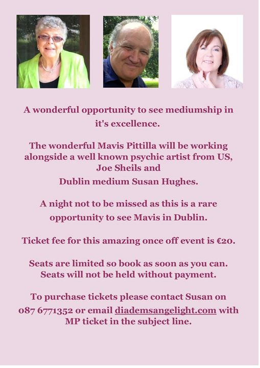 Mavis Pittilla & Joe Sheils Night of Mediumship and Psychic Art