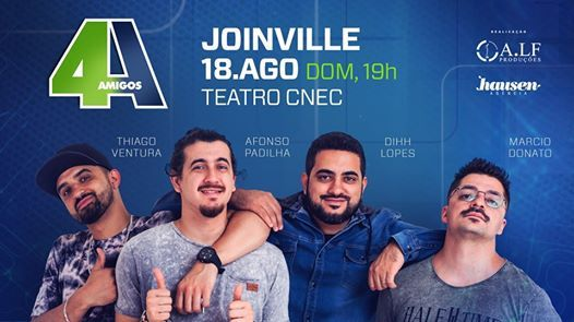 Novo show Os 4 Amigos em Joinville 18.Agosto  Domingo