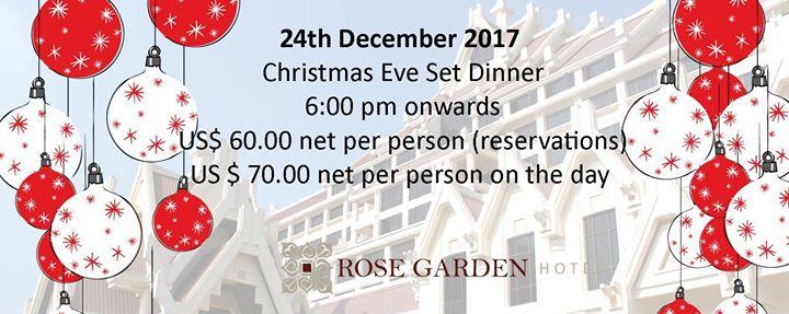Christmas Eve Dinner By Rose Garden Hotel