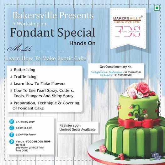 Bakersville Present A Workshop On Fondant