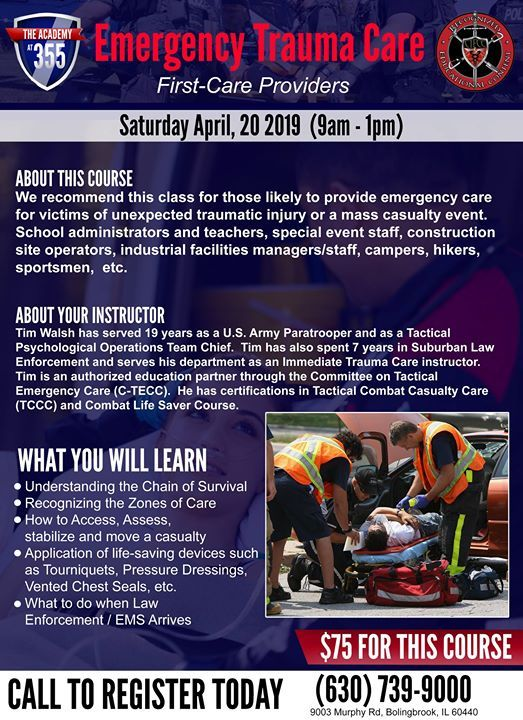 Emergency Trauma Care at The Range at 355, Bolingbrook