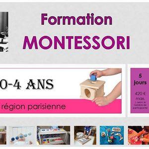 Formation Montessori 0-4 ans WE 2 (5 jours en 2 WE)