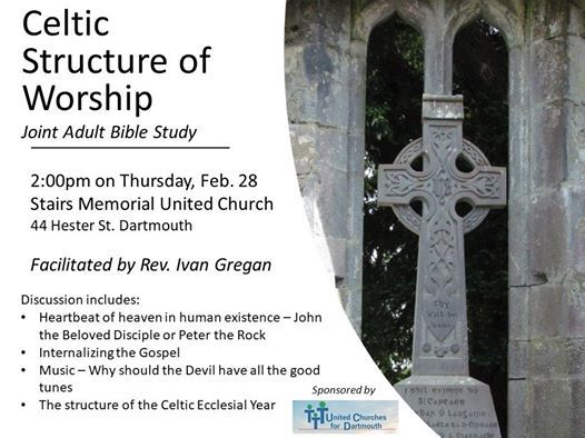 Adult Study: Celtic Structure of Worship at Stairs Memorial United