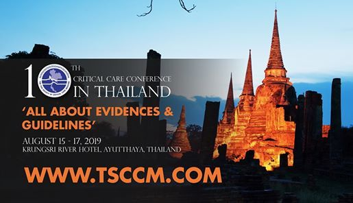 10th Critical Care in Thailand (TSCCM2019) at Wild Blue